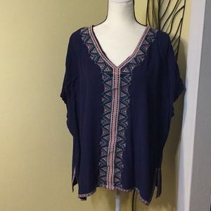 Other - Navy swimsuit cover up, open shoulder